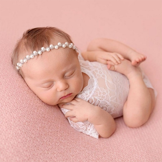 Baby Romper Deep V Backless Clothes Newborn Photo Photograph Lace Toddler Hollow Design Clothing 4