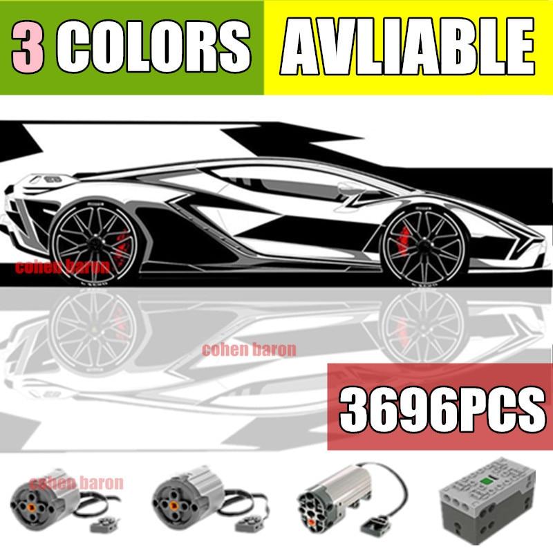 Nouveau en Stock 3696 pièces Lamborghinis Technic voiture SIANs modèle FKP37 modèle Roadsters blocs de construction briques jouets enfant cadeau