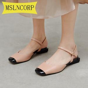 Plus Size 34-43 Women Sandals Shoes Woman Fashion Spring Summer Mixed Colors Ladies Square Toe High Heel Elegant Sandals Female