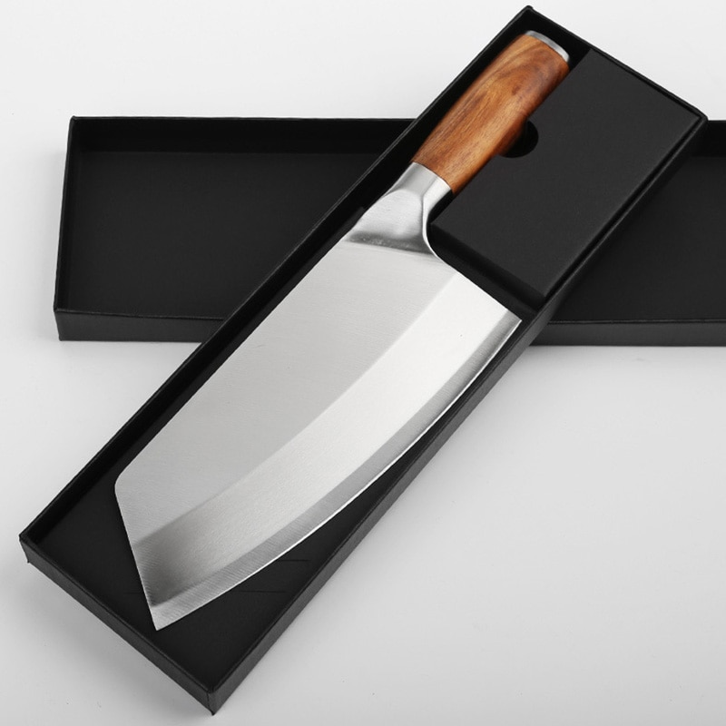 8inch Kitchen Knife Stainless Steel Meat Chopping Cleaver Slicing Vegetables Chinese Chef Knife