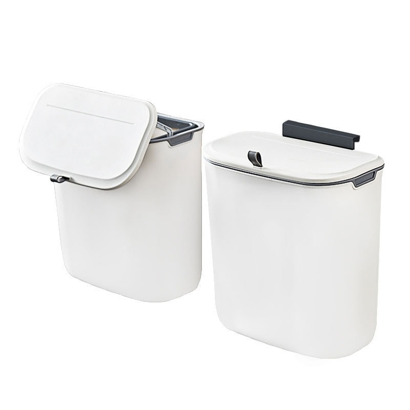 Sliding Cabinet Kitchen Wall Mount Trash Can White Dustbin Car Recycle Bin Waste Bin For Kitchen Garbage Can 7/9l enlarge
