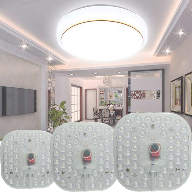 Módulo de led ac220v 230 v 240 v 12 w 18 w 24 substituir luz teto lampe iluminação fonte de poupança energia instalação conveniente