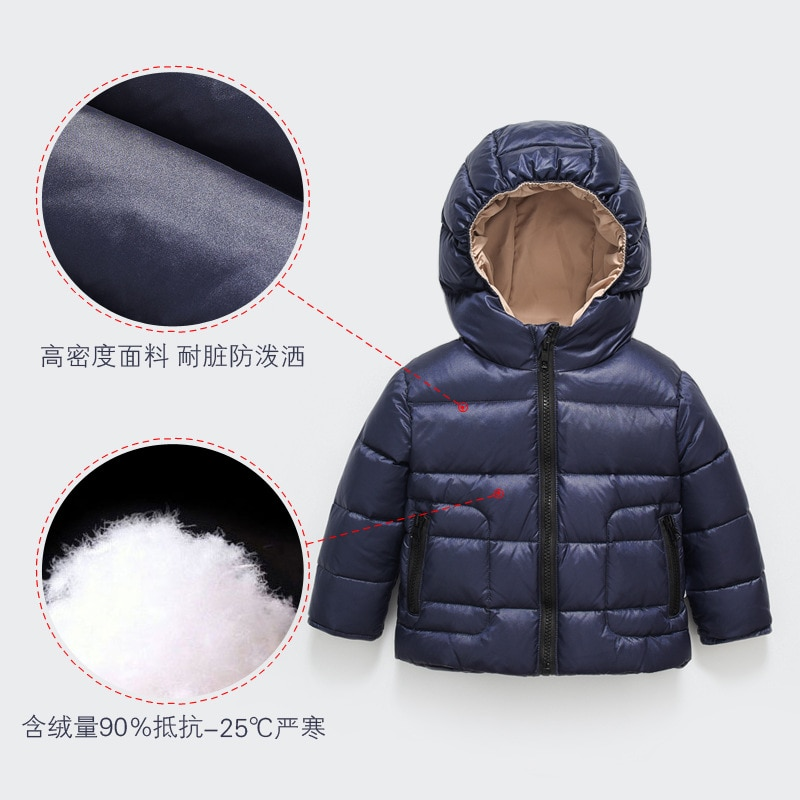 Baby Clothes Winter Short Lightweight Jacket Down Jacket Liner Children's Winter Thickened Warmth Ultra-light Down Jacket enlarge