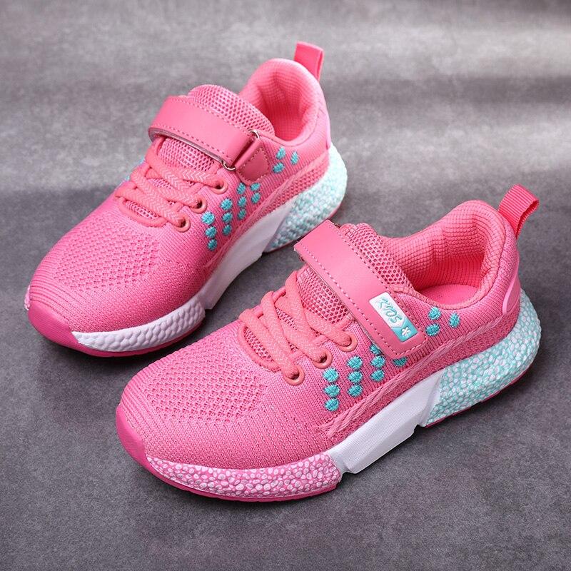 Verano niños chico zapatos deportivos de niña, zapatillas de correr ligeras transpirables, zapatos para caminar al aire libre para niñas