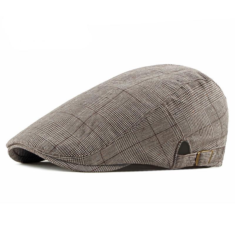 2019 New Men's Cap Retro Casual Ivy Hat Summer Golf Newsboy Driving Cabbie Hat Flat Cap Simple Fashion Peaked Cap