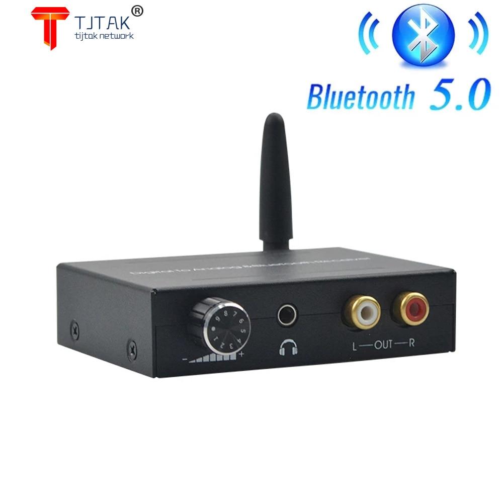 Bluetooth 5.0 192kHz Digital Para Conversor Analogico Receptor Bluetooth Com Controle de Volume Para o Telefone Alto-Falante DV
