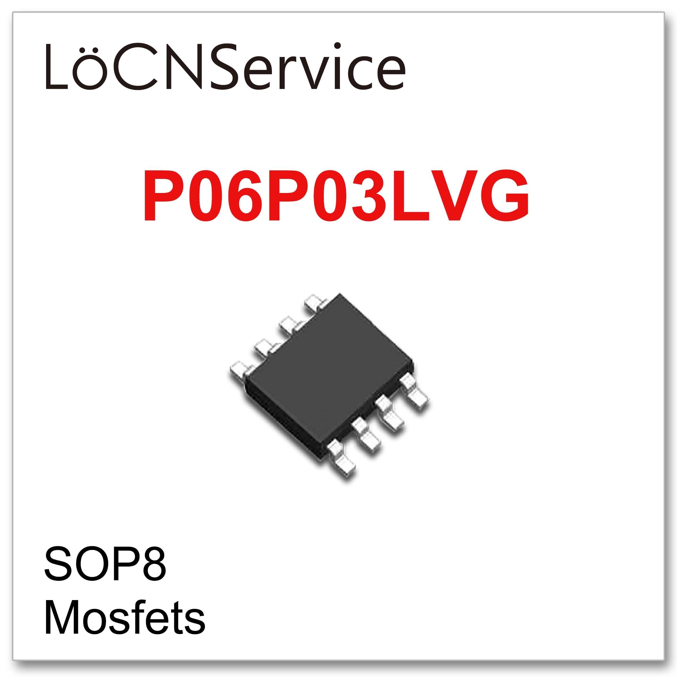 Locnservice 50 pces 500 pces sop8 p06p03lvg de alta qualidade