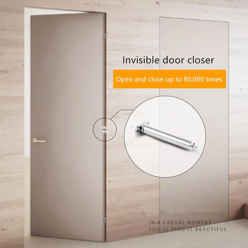إغلاق باب غير مرئي ، باب منزلي مخفي ، مغلق تلقائيًا ، زنبرك خاص