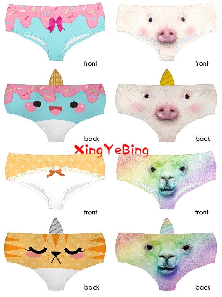 The Most Popular 3d Printed Female Sexy Low Waist Briefs Cute Cat Briefs Cartoon Design Comfortable Underwear