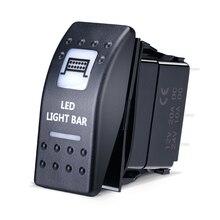 KEMiMOTO interrupteur à bascule illuminé barre lumineuse LED pour canette Am Maverick Commander 16 UTV pour Yamaha pour Polaris Ranger