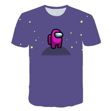 Jungen Cartoon Unter Uns T Hemd Spiel Impostor t-shirt 3D Gedruckt Tees Kinder Streetwear Kleidung für Teenager Kinder Tops 2020 neue