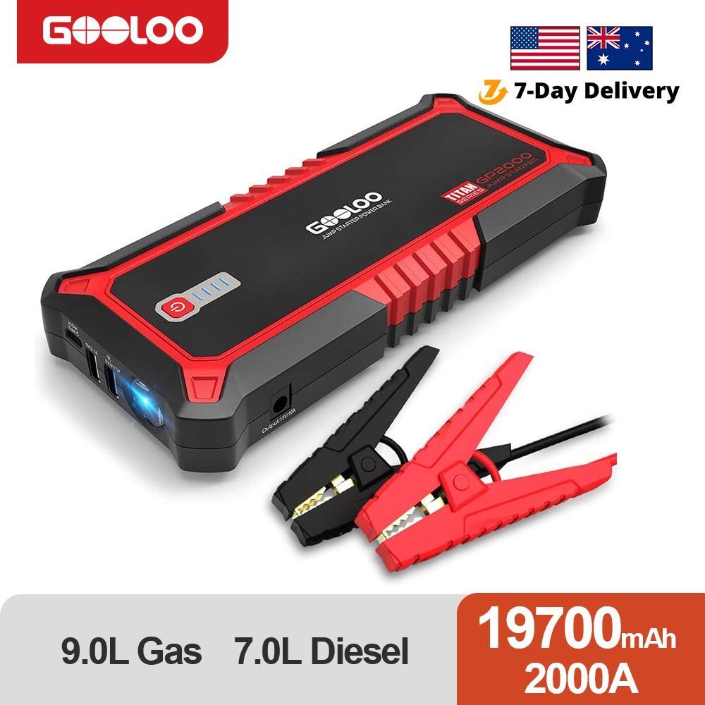 GOOLOO 2000A Power Bank Car Jump Starter External Vehicle Battery Starting Device Booster Portable P