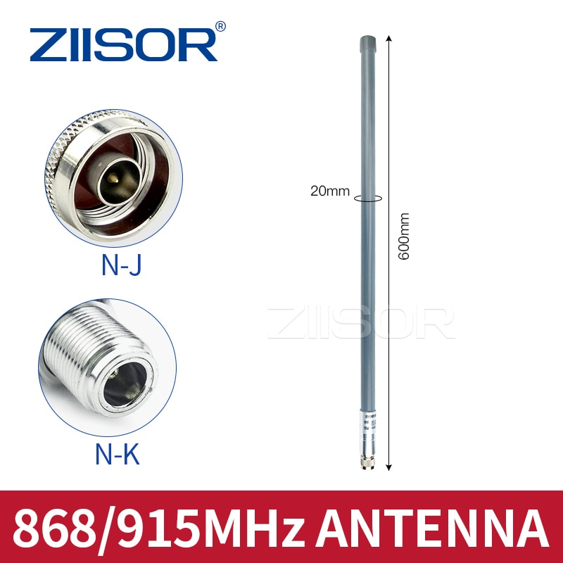 LoRa 915MHz Antenna Wifi UHF 868MHz Outdoor Omni High Gain N Female N Male 900MHz for Monitor Repeater TX900-BLG-60