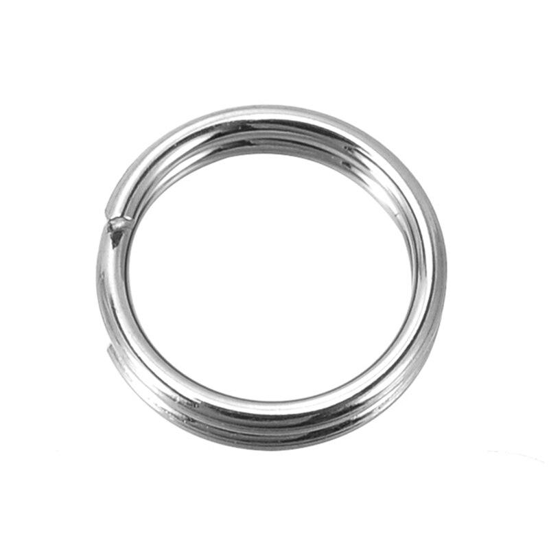 Серебряные украшения doreenbeads, сплит кольца из нержавеющей стали 7 мм, Продан в упаковке 50 2015, Новинка