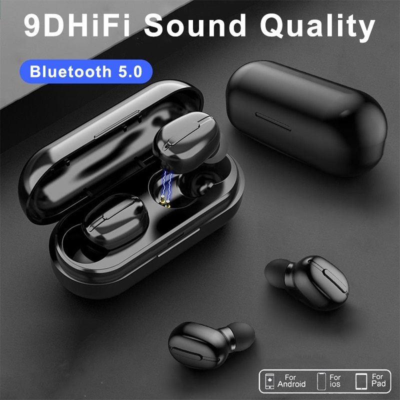 L13 TWS Wireless Bluetooth Headphones 9D Stereo HIFI Headset IPX6 Noise-canceling Reduction Color Di