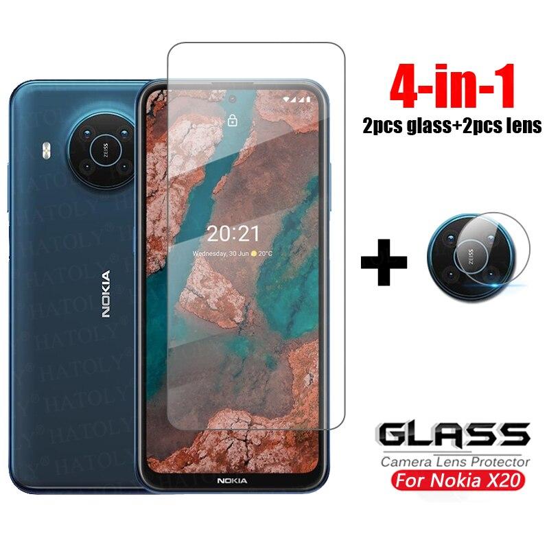 Защитное стекло, закаленное стекло для Nokia X20/X10/X20/HD