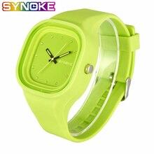 SYNOKE moda Jelly Silicone estudiantes relojes niñas marca de lujo Casual chicos reloj de cuarzo relojes de pulsera niños reloj para regalo
