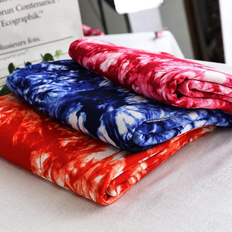 Jersey do spandex do poliéster tecido tie dye estilo navy tecido estampado TJ1300