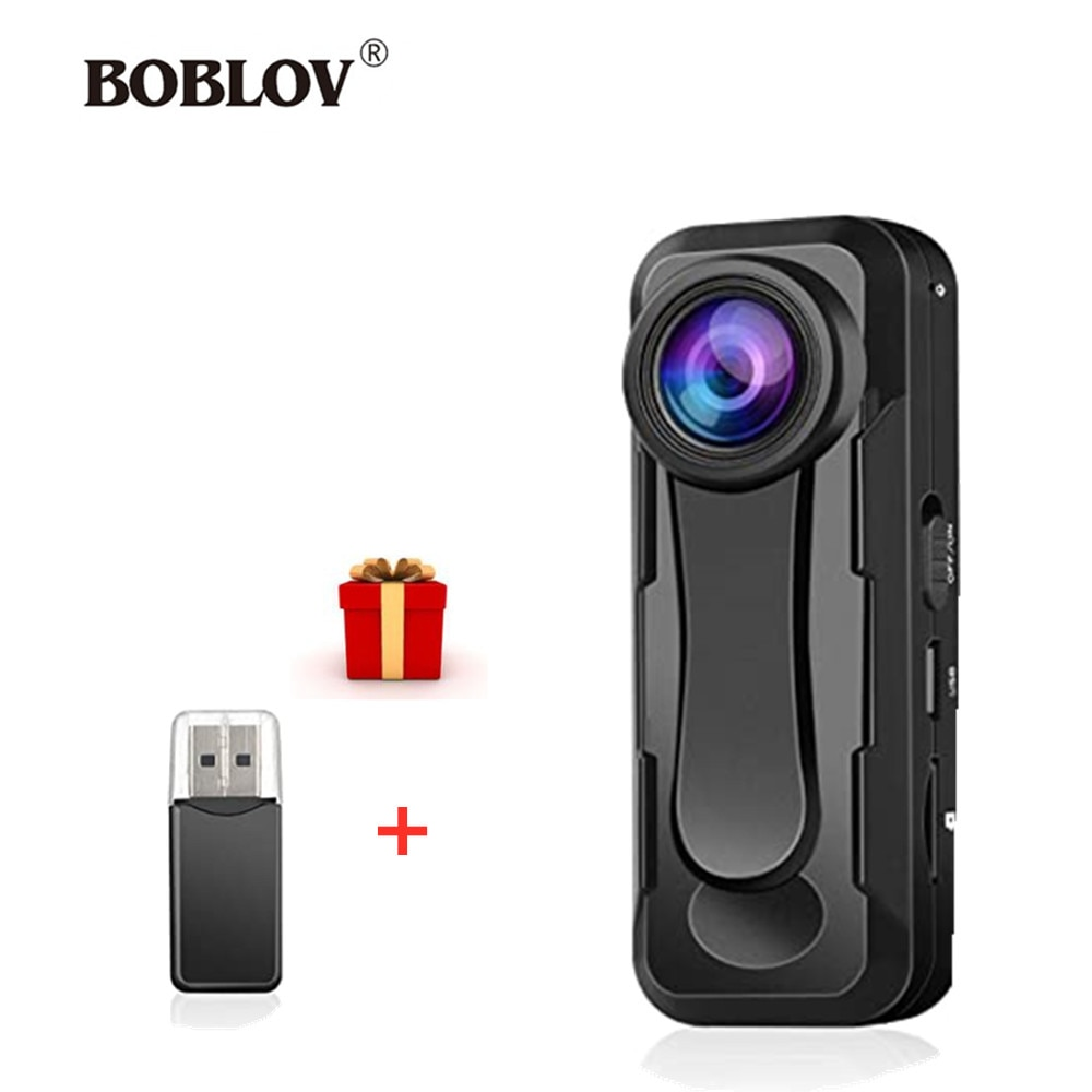 BOBLOV W1 كاميرا صغيرة كامل HD 1080P المحمولة كامارا الشرطة مسجل فيديو الجسم كام دراجة نارية الحركة بوديكامير كاميرا صغيرة