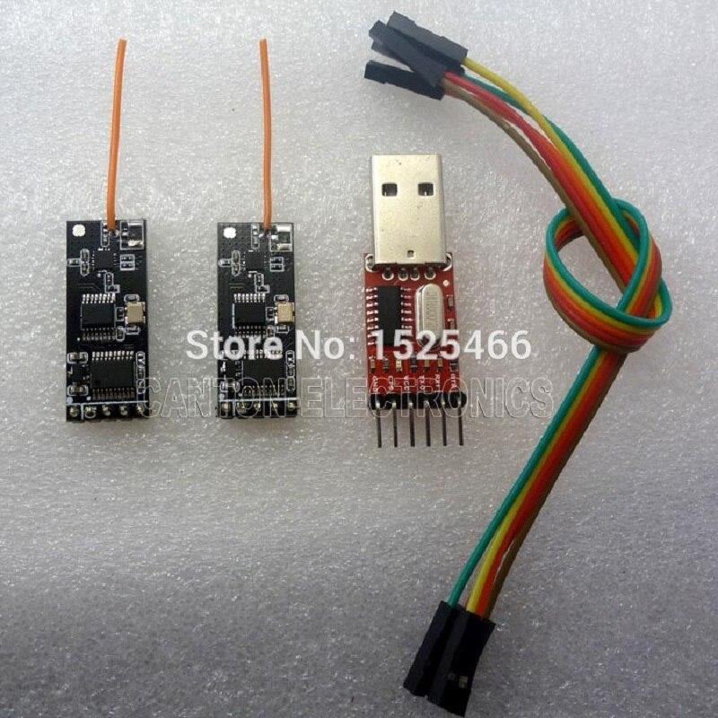 TB387 * 2 + TB196 * 1 2,4G MEGA2560 RF kit 2,4G Serielle ports Wireless Transceiver Modul 5V 3,3 V TTL232 für Internet der sache DR Radio