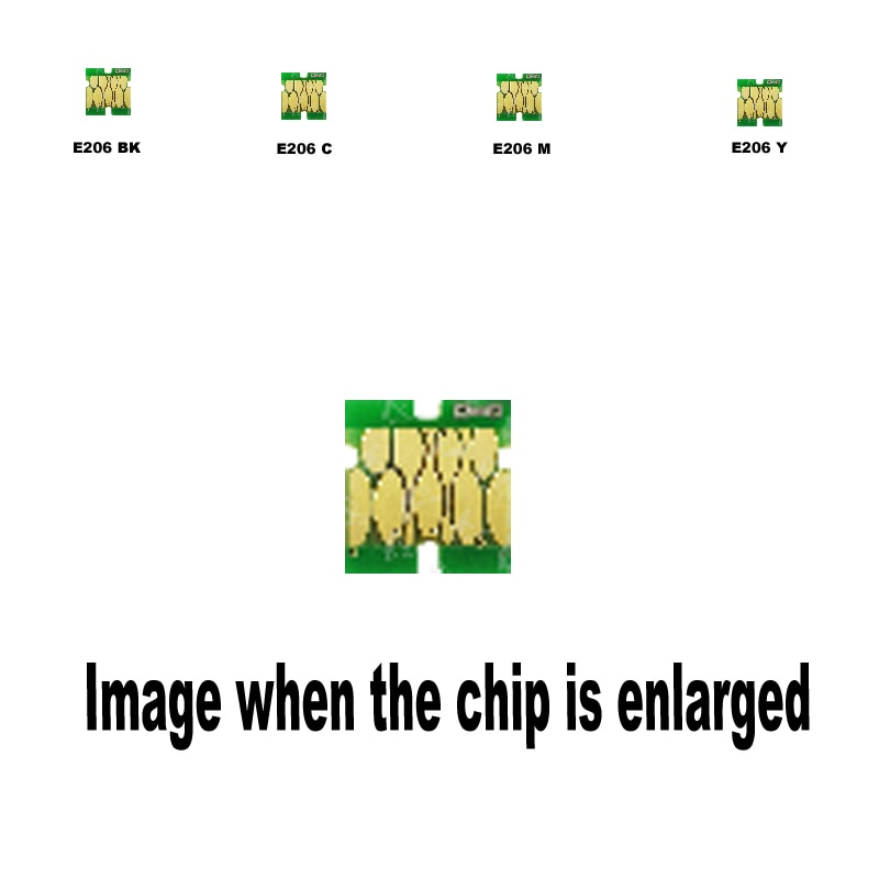 Paquete de 6 3B + 1C + 1M + 1Y T2061 T2062 T2063 T2064 para Cartucho de tinta Compatible con Epson chip desechable XP-2101