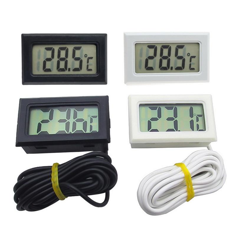 1pc mini digital lcd interno conveniente sensor de temperatura medidor de umidade termômetro higrômetro calibre