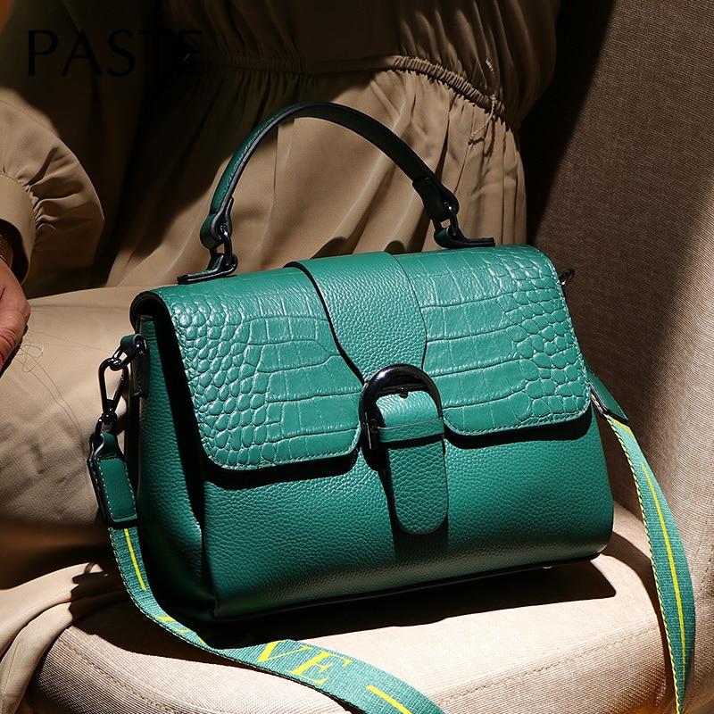 2020 Crocodile Pettern Cowhide Leather Women's Handbag Designer Female Shoulder Flap Bag High Quality Alligator Crossbody Bags