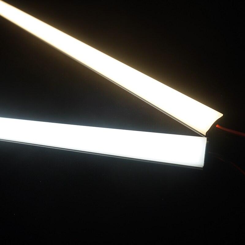 24vdc 50cm 20 polegadas conduziram a luz ultra magro da barra, 2835 120/240 conduziram pela tira dura conduzida lisa do medidor, barra rígida conduzida invisível do diodo 6 w/14 w