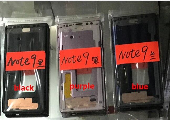 10 قطعة لسامسونج غالاكسي نوت 9 نوت 9 N960 N960U SM-N960U الإطار الأوسط الحافة الإسكان المعدني مع حجم الطاقة زر الجانب