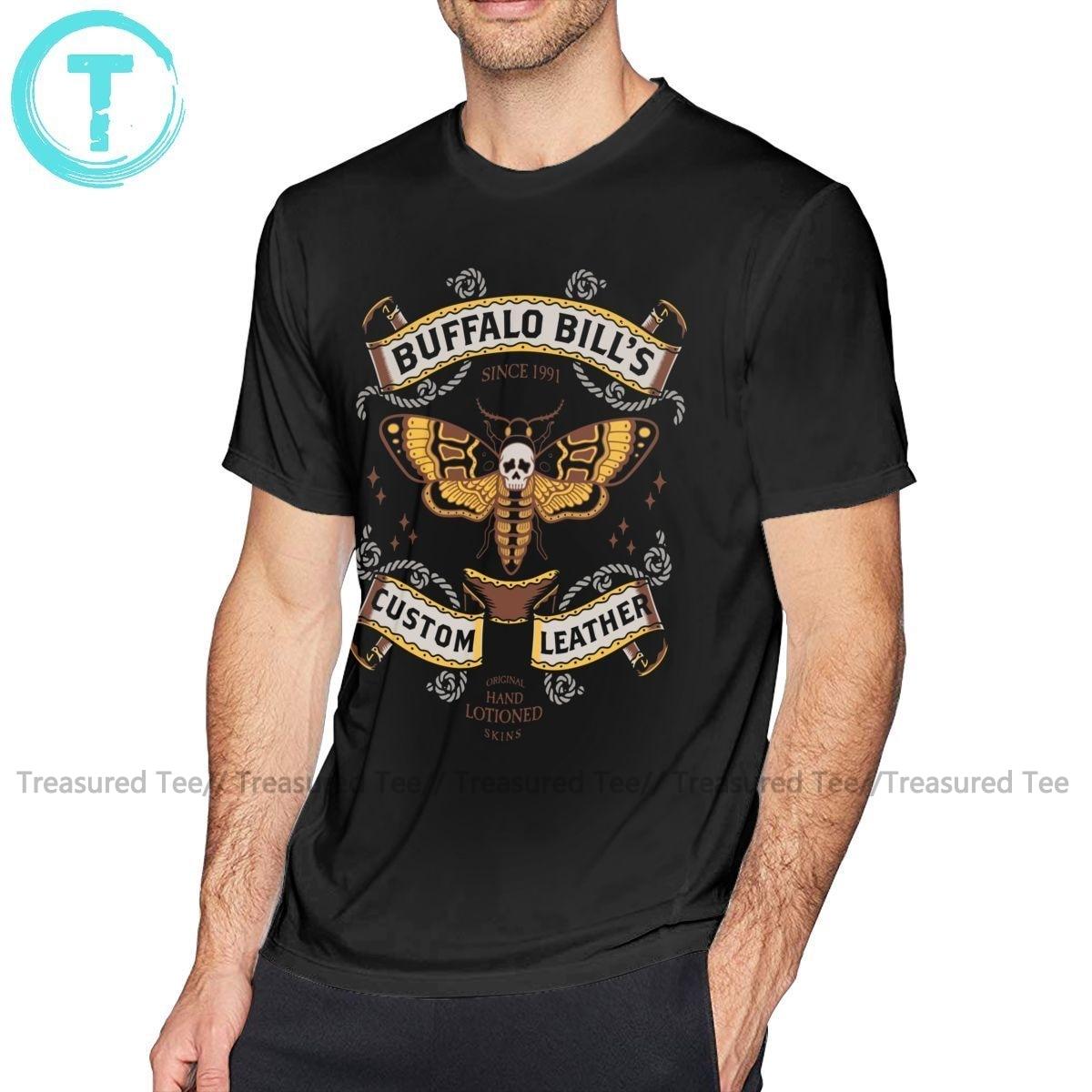 Camiseta con gráfico de cuero personalizado de Buffalo Bill de Silence Of The Lambs 5x, camiseta divertida para hombre