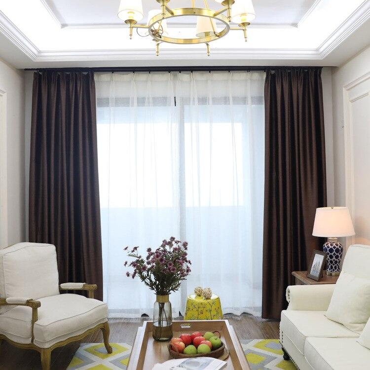 Cortinas de sombreado talladas de granos de madera de Curry Simple moderno para el dormitorio del comedor.