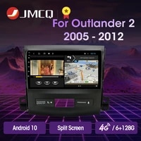 jmcq 9 android 10 2g32g 2din dsp car radio multimedia video player for mitsubishi outlander xl 2 2005 2012 navigation gps 2din