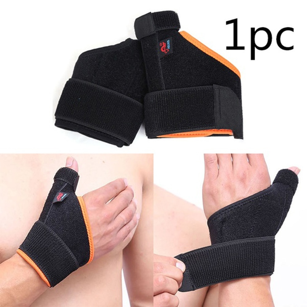 Férula de soporte de pulgar doble transpirable elástica para la ayuda de la artritis de la mano alivio del dolor Spica muñequera de soporte de deporte