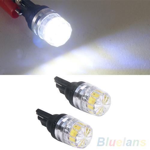 2 pces branco t10 t15 5050-smd luzes led lâmpadas carro veículo lâmpada de cauda lateral