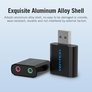Image 3 - Внешняя звуковая карта USB Vention, 3,5 мм, адаптер для наушников и микрофона