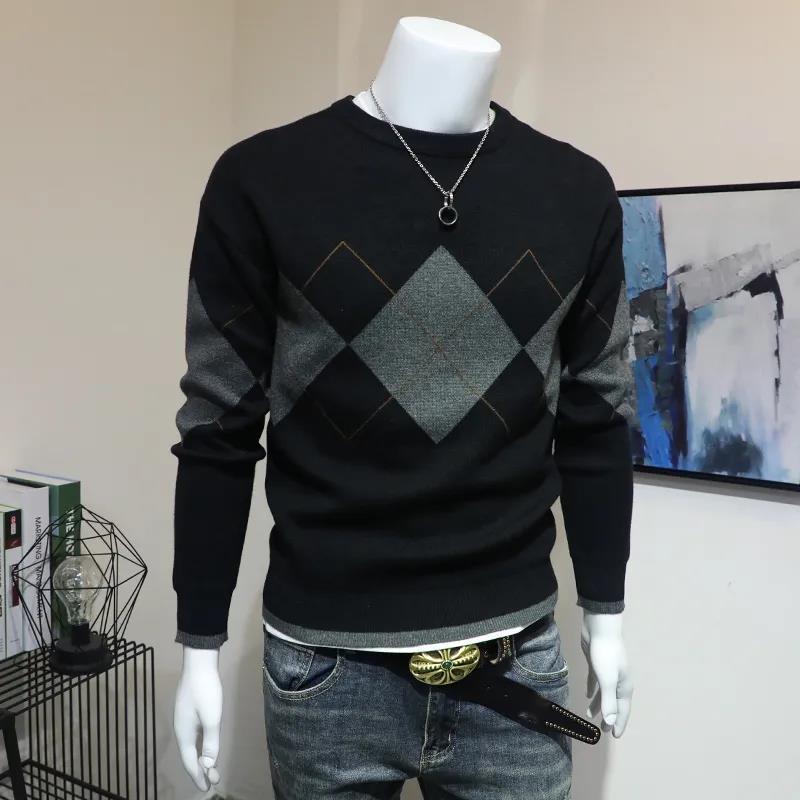 Новинка Осень 2021 европейская уличная Модная молодежная тонкая трикотажная модная осенняя одежда с круглым вырезом