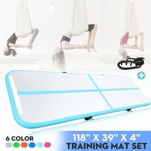 Tapis de gymnastique gonflable de 10FT, tapis de voie dair de Yoga de Taekwondo avec la pompe électrique pour le Tumbling darts martiaux de Cheerleading, Parkour