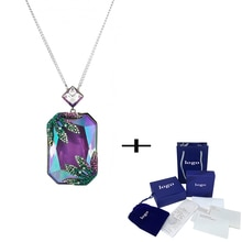 Style de mode classique Tropical palmier vert et Fuchsia collier en cristal exquis dames bijoux cadeau danniversaire romantique