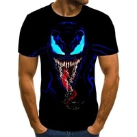 2021 venom 3d casual printing o neck t shirt hip hop men and women fashion sports shirt fitness boys and girls new arrivals