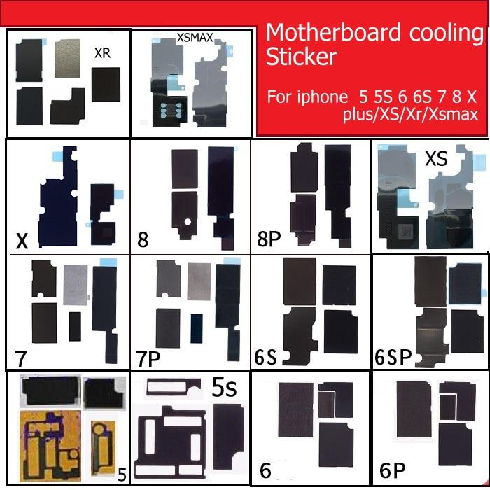 Placa-mãe anti-estática dissipador de calor adesivo para iphone 5S 6s 7 8 plus x xs max xr lógica mainboard dissipação de calor refrigeração