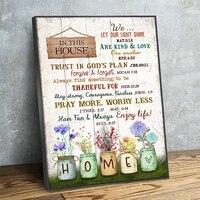 Affiche de fleurs colorees  pots de macon  imprimes de maison douce  peinture murale de jardin  image dart pour decor de chambre de pepiniere