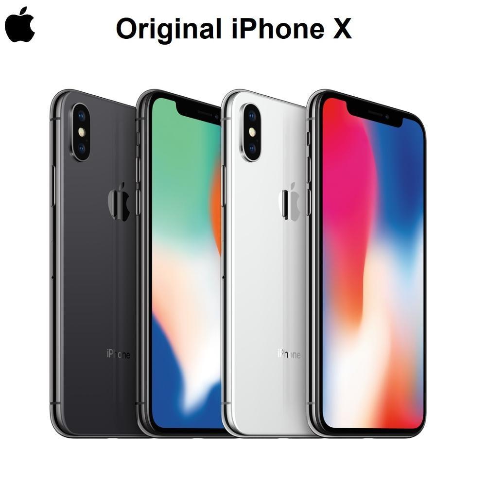 Оригинальный Новый Смартфон Apple iPhone X, дисплей Super Retina 5,8 дюйма, дизайн всех экранов, IOS, A11 Bionic, Bluetooth, водонепроницаемый