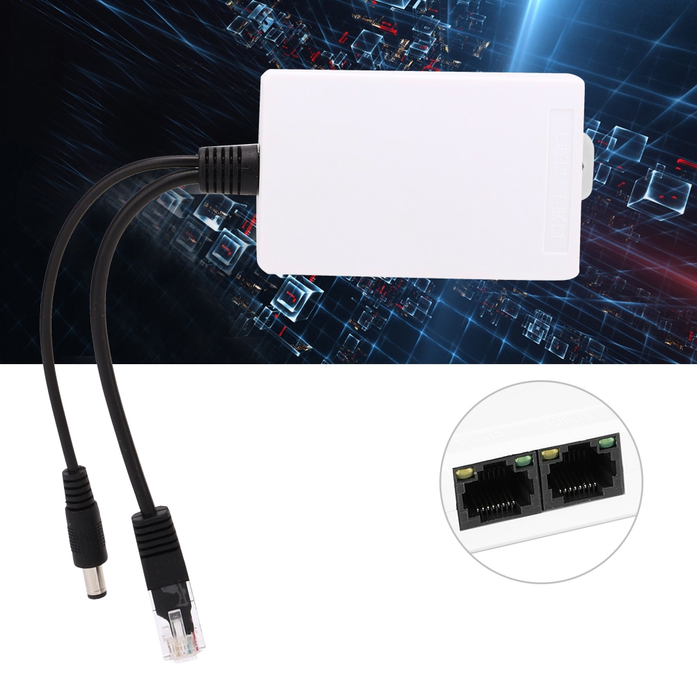 12V POE Switch Extender 2 Ports Power Extension POE Adapter Cable Splitter Extender For Hikvision DAHUA POE Switch/VCR IP Camera enlarge
