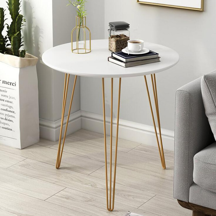 Прикроватный столик в скандинавском стиле, для гостиной, железный, простой прикроватный столик, круглый столик, для балкона, Маленький журн...