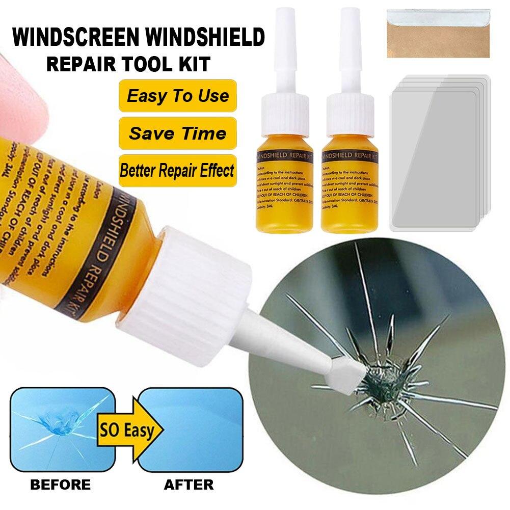 Набор инструментов для ремонта автомобильных стекол, жидкость для ремонта автомобильных стекол и трещин, Прямая поставка