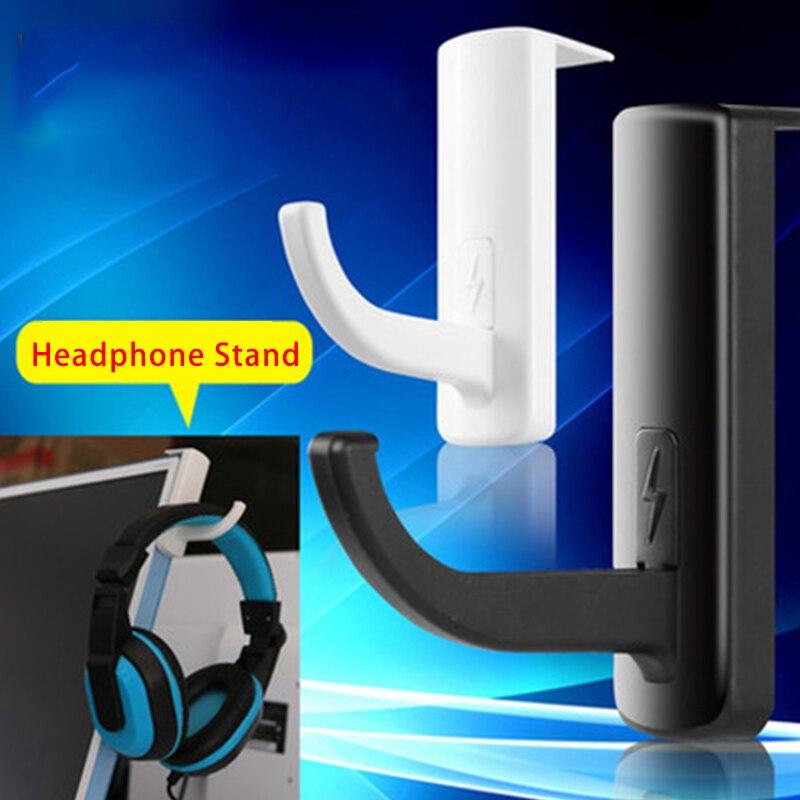 8*8 см Портативный наушники Стенд Универсальный вешалка для наушников крюк в стену прямой ПК монитор стенд держатель стойки