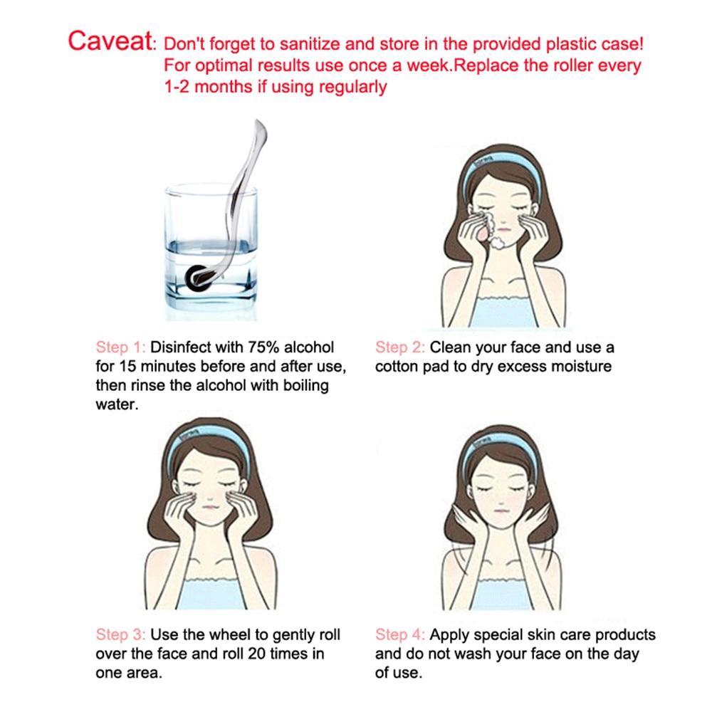 1pc Titanium Micro Needle Roller Derma Roller Dermaroller Hair Regrowth Beard Growth Anti Hair Loss Treatment Thinning Receding