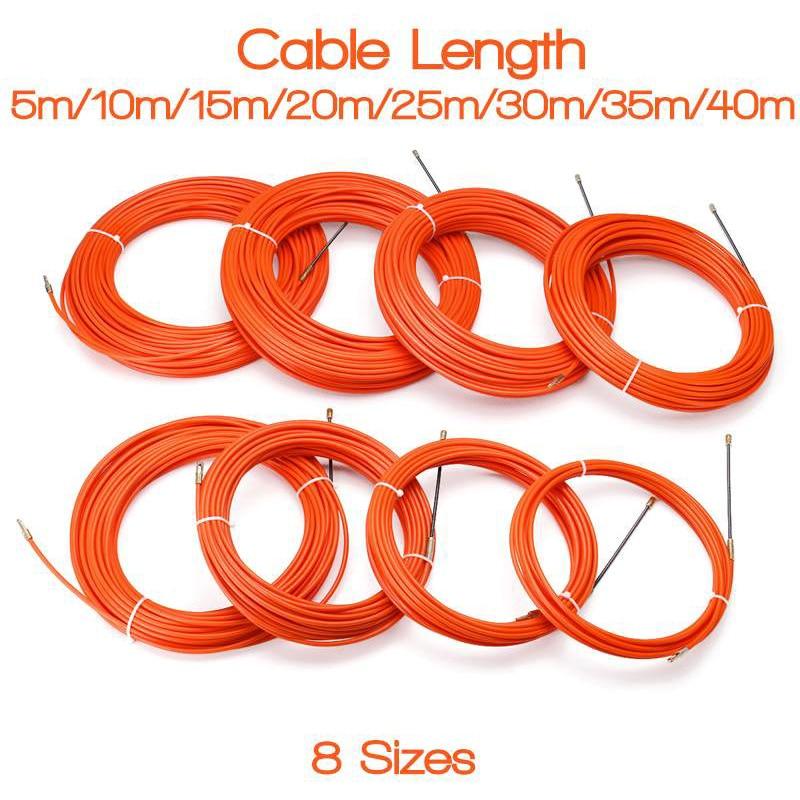 Dispositivo de guía, Cable eléctrico, tiradores de empuje, cinta de pescar, alambre liso para electricista JS23