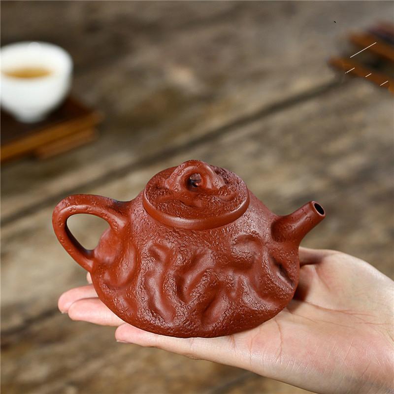 ييشينغ إبريق الشاي الشهير اليدوية Dahongpao ييشينغ الطين إبريق الشاي إبريق الشاي غلاية الأرجواني الطين إبريق الشاي