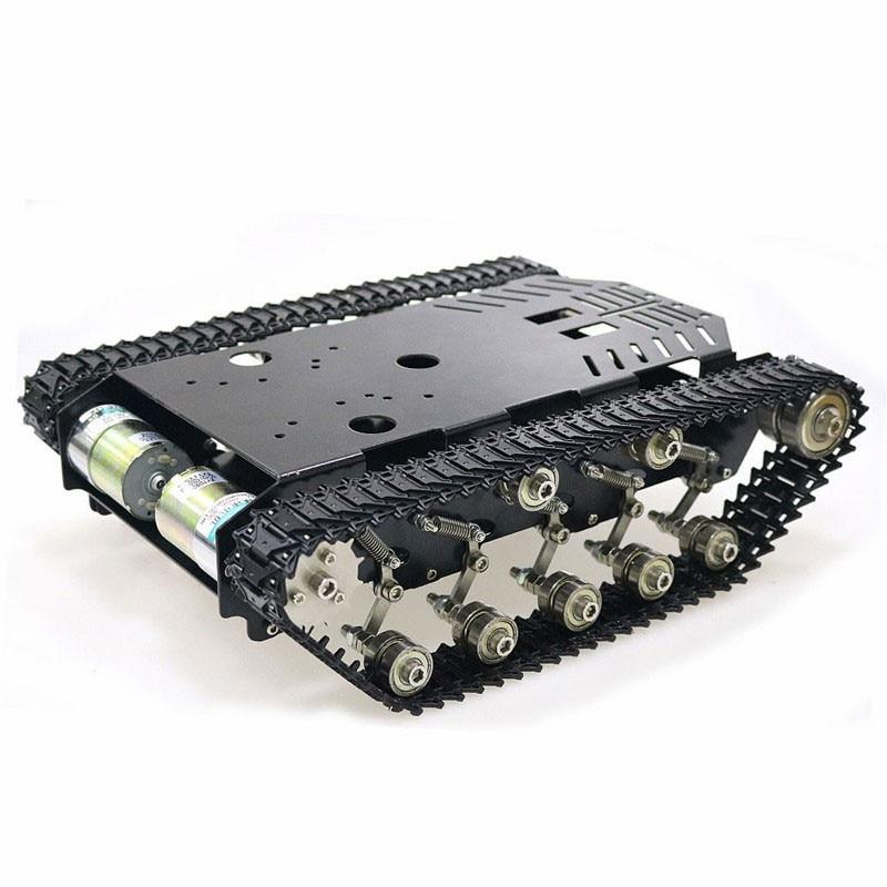 Tous les châssis de réservoir en métal châssis suivi bricolage Robot intelligent châssis de voiture 5-10KG capacité assemblé TS900